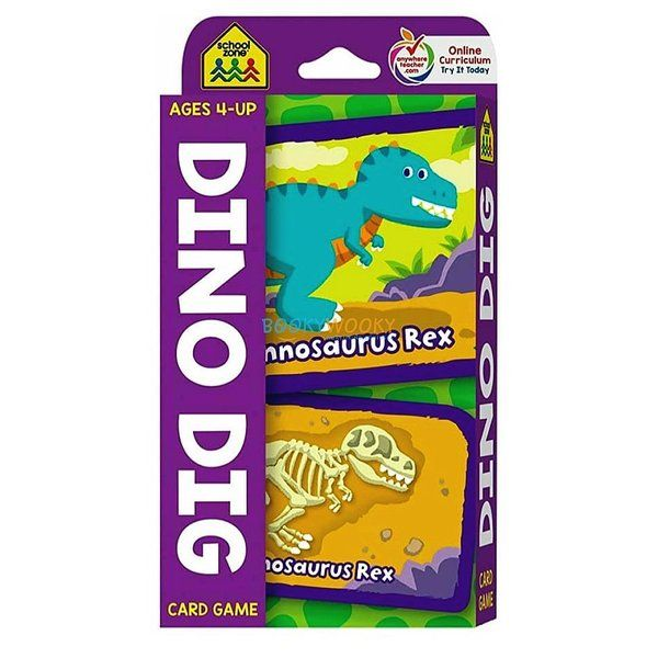 BookyWooky Dino Dig Card Game Gifts For 9 Year Old Girls