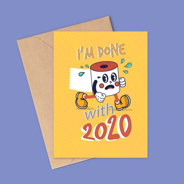 Privy Express Done with 2020 Funny 2021 Wishes Greeting Card New Year Greeting Cards