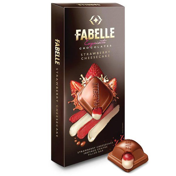 Fabelle Esquisite Strawberry Cheesecake Centre Filled Bar 140g  Get Well Soon Gifts