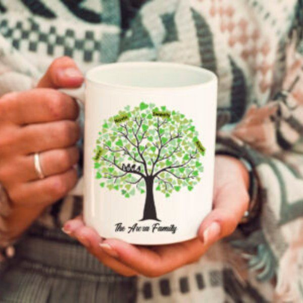 Zoci Voci Family Tree Customized Mug Personalized Gifts For Family