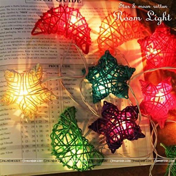 Untumble Fancy Moon Star Lights ( 10 feet) New Year Decoration Items