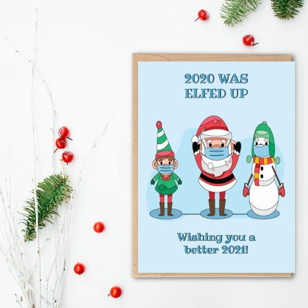 Privy Express Funny Elfed Up New Year Wishes Greeting Card Funny Gifts For Boyfriend
