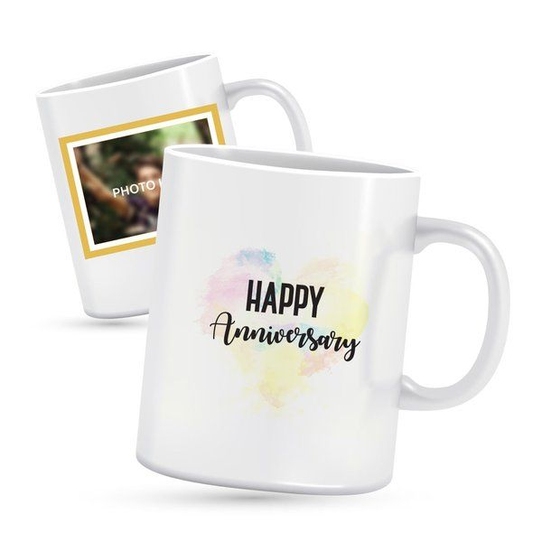 Privy Express Happy Anniversary Photo Mug Personalized Gifts For Husband Birthday