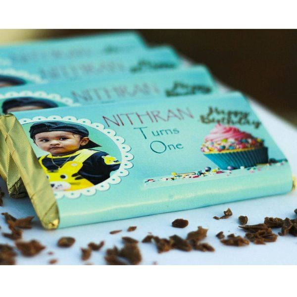 Privy Express Happy Birthday Custom Photo Message Chocolate Bar First Birthday Gifts