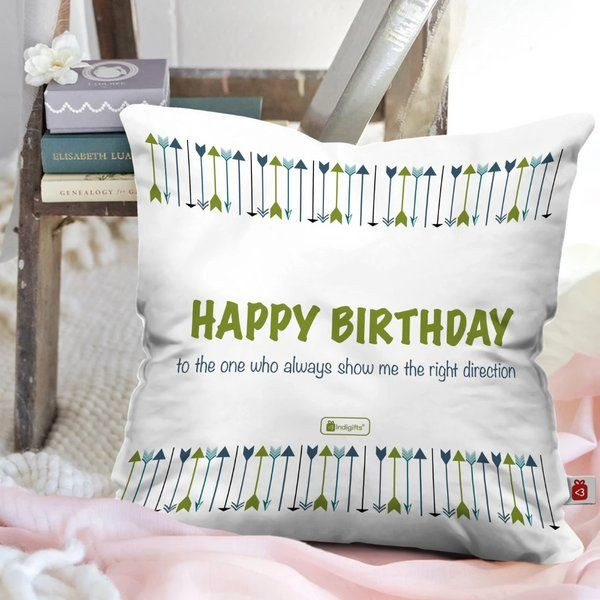Indigifts Happy Birthday Printed Cushion with Cover Birthday Gift Ideas