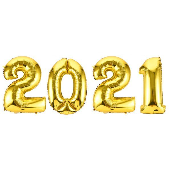 Untumble Happy New Year 2021 Foil Balloon New Year Decoration Items