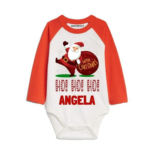Knitroot Ho! Ho! Ho! Outfits for kids Baby Wear Onesie Christmas Costumes For Kids