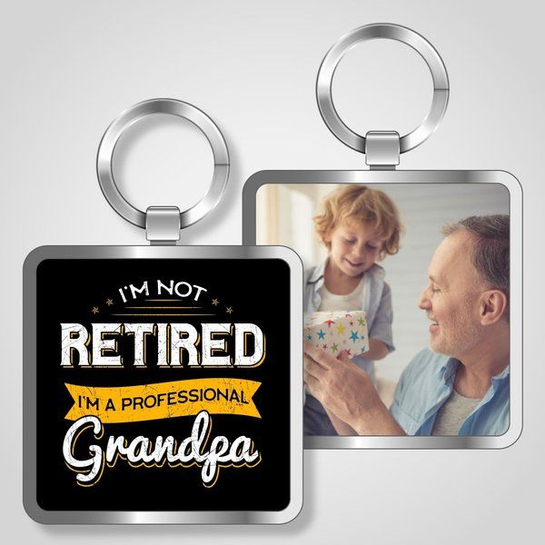 Privy Express I'm a Professional Grandpa Keychain Personalized Gifts For Grandpa