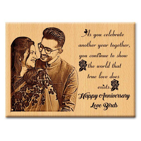 Incredible Gifts First or 2Nd Marriage Anniversary Gift Personalized Photo Plaque  Anniversary Gifts For Boyfriend Of 2 Years