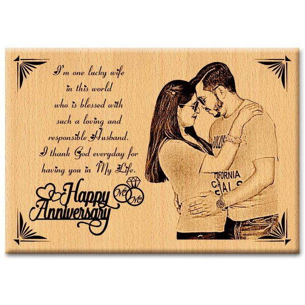 Incredible Gifts Incredible Gifts Personalized Wedding Anniversary Gift - Engraved Photo Plaque  Personalized Anniversary Gifts