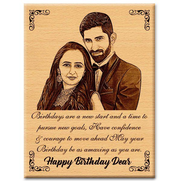 Wooden Personalized Engraved Plaque for Anniversary Gift For Bhaiya Bhabhi