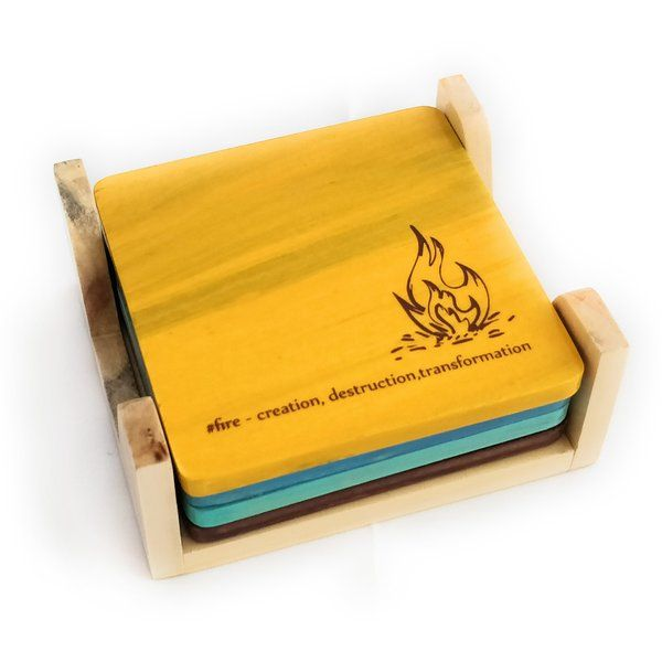 Ivei IVEI Elements of Life Coasters with Stand Set Of Coaster