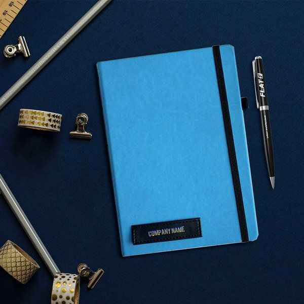 Best 25th Birthday Gift Ideas Minimalistic Blue Company Name Personalized Diary