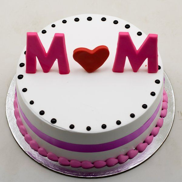 CakeZone MOM's Love Cake (with fondant topper) 60th Birthday Gifts For Mom