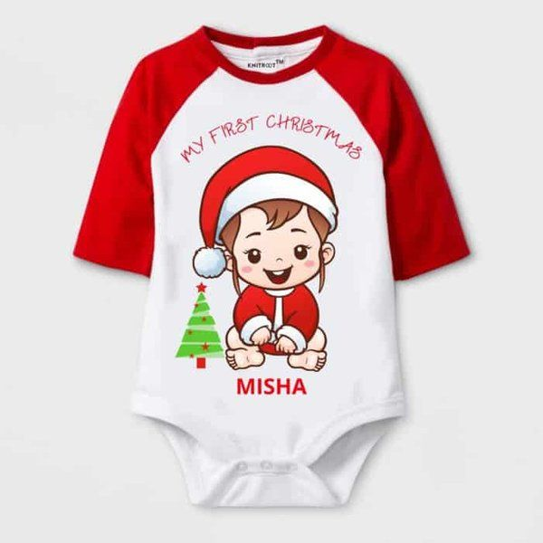 Knitroot My First Christmas Baby Wear Onesie Gifts For 7 Year Old Boys