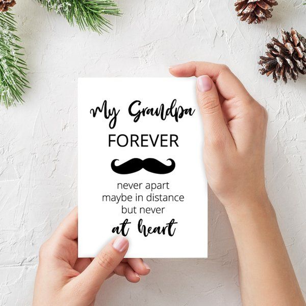 Privy Express My Grandpa Forever Greeting Card Personalized Gifts For Grandpa