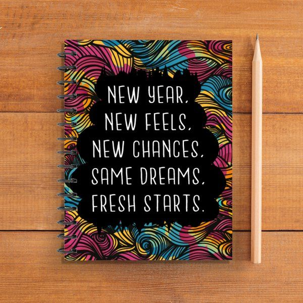 Privy Express New Year Good Vibes Printed Swear Notebook New Year Gift