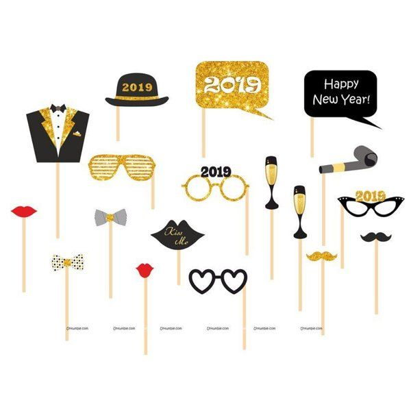Untumble New Year Photo Props New Year Decoration Items