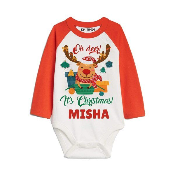 Knitroot Ohh deer...it's Christmas Baby Girl Wear Onesie Christmas Costumes For Kids