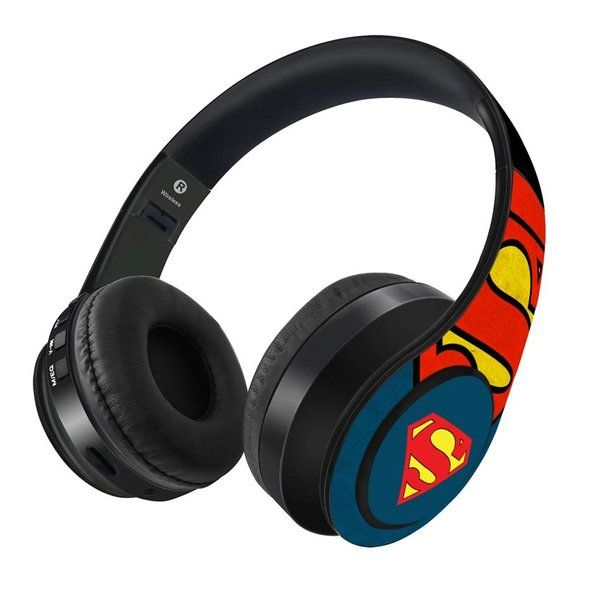Macmerise Overload Superman - Decibel Wireless On Ear Headphones Gadget Gift For Husband