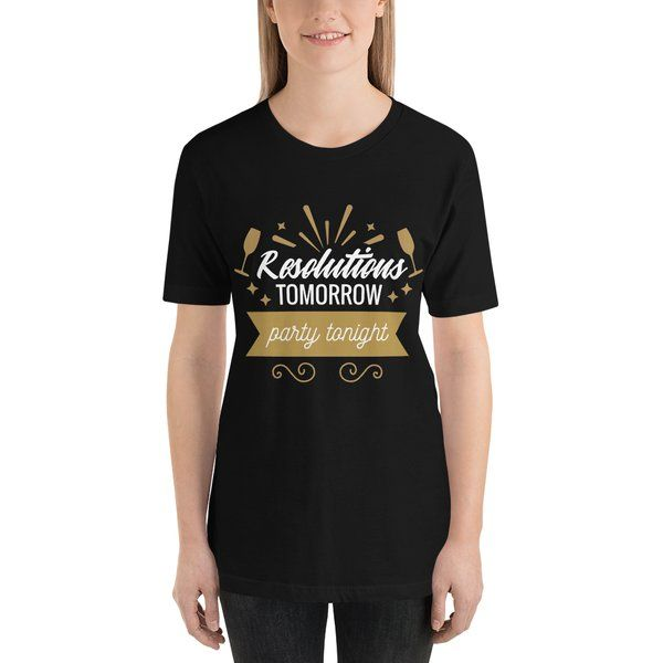 Privy Express Party New Year Resolution Funny Printed T-shirt for Women Gifts For Men Under 300