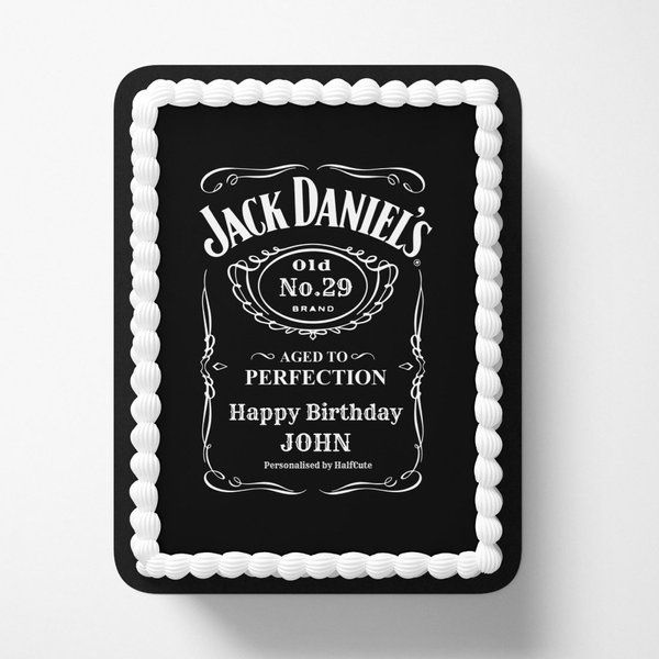 CakeZone Personalized Name & Age Jack Daniels Birthday Photo Cake Personalized Gifts For Birthday