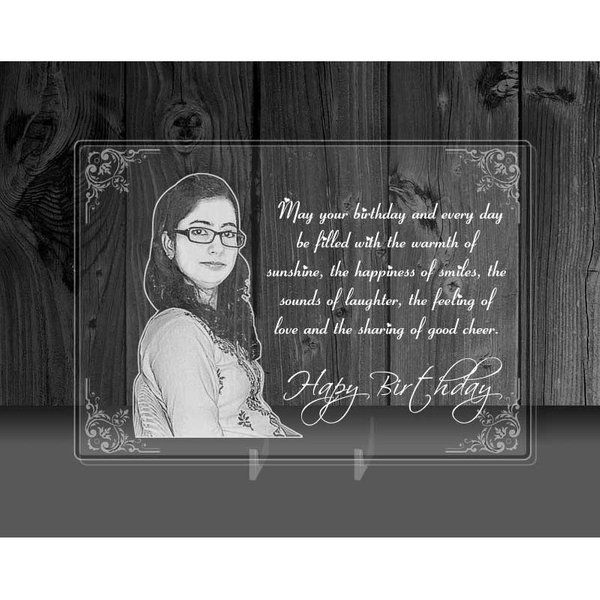 Romantic Gifts for Girlfriend on Birthday - Photo On Transparent Acrylic