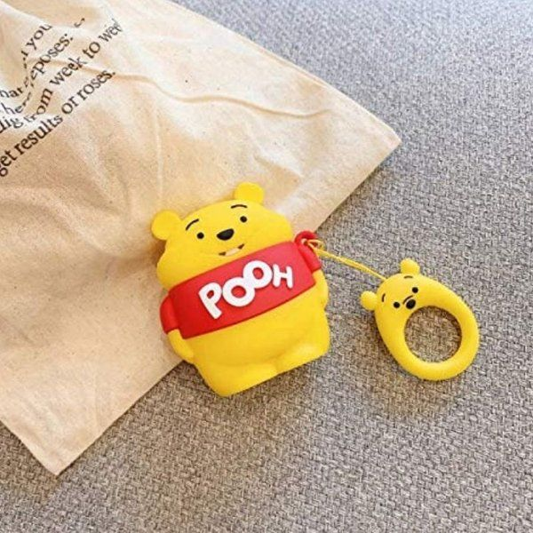 zestaindia Pooh Premium Silicone Quirky Covers for Airpods Electronics Gifts