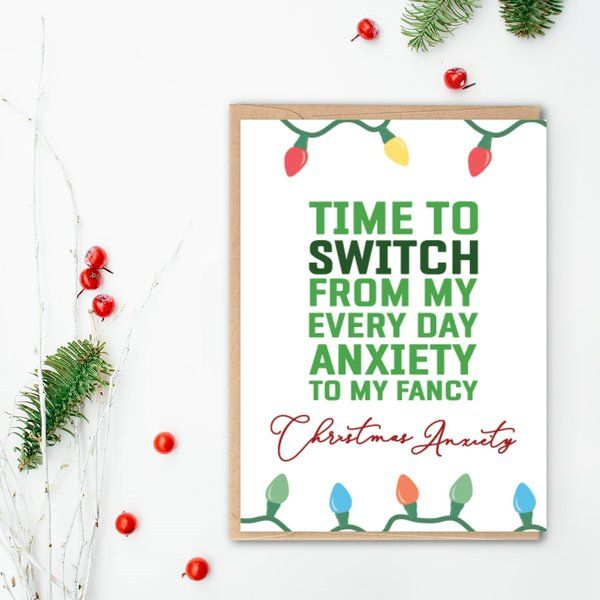 Privy Express Quirky Christmas Anxiety Greeting Card Quirky Gifts