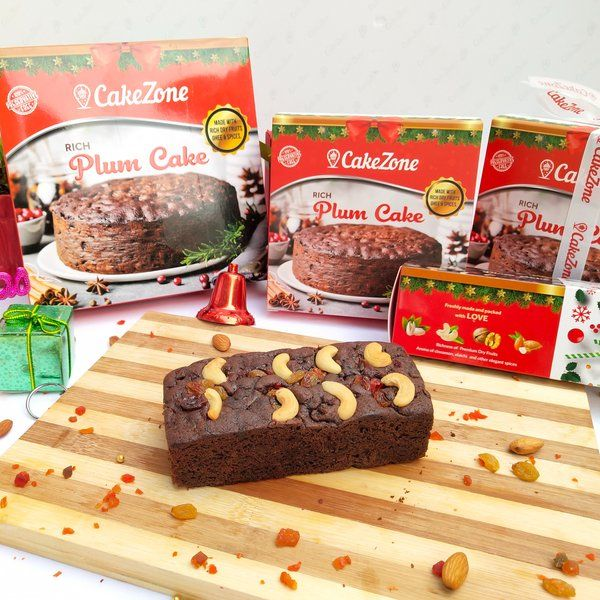 CakeZone Rich Choco Plum Bar Freshly Baked Dry Tea Cake New Year Cakes
