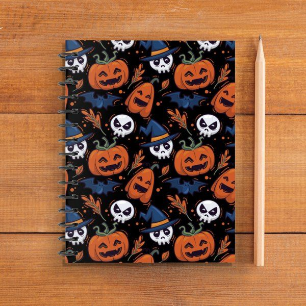 Halloween Characters Doodle Notebook Spooky Gift Ideas