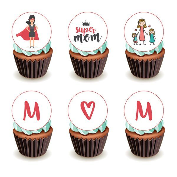 CakeZone Super Mom Cupcakes - Chocolate Mothers Day Gifts