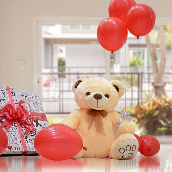 CherishX Teddy Surplosion Box Gifts For 1 Year Baby Girl