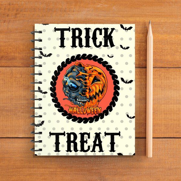 Privy Express Trick or Treat Halloween Doodle Notebook (Notepad) Graduation Gifts