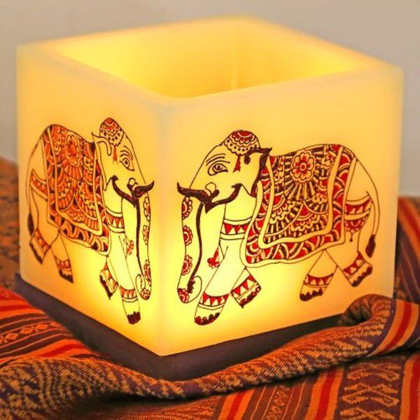 EitherOrr Wedding Elephants Hollow Square Candle Holder Useful Gifts For Dad