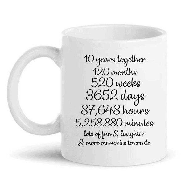 Knitroot 10 Years Together Mug Unique Birthday Gifts For Husband