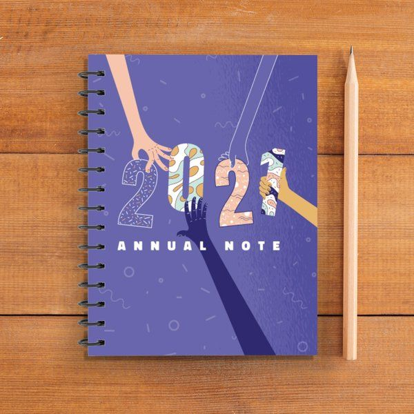 Privy Express 2021 Hands Together Graphic Printed Notepad Planner Notebook Stationery Kit For Girls