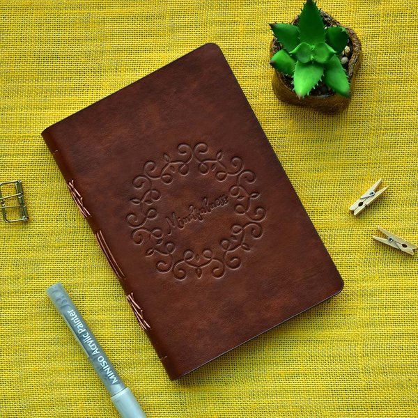 Doodle 2021 Tranquility Brown Mindfulness Undated Planner Retirement Gifts For Women