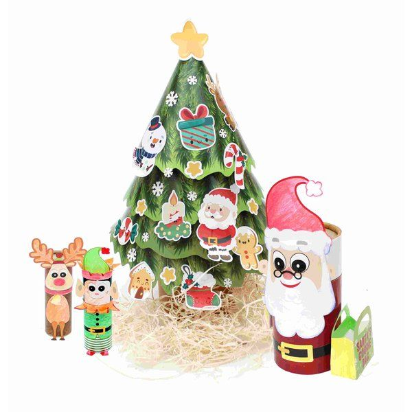 BookyWooky 3D DIY Craft Kit for Christmas Stationery Kit For Girls