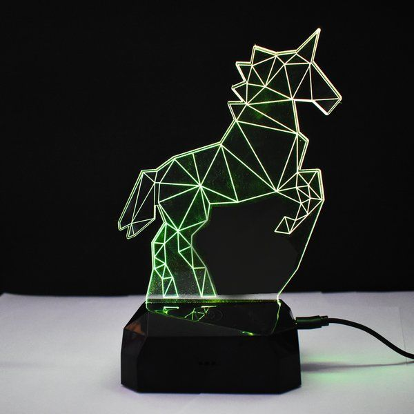 zestaindia 3D Unicorn Illusion Colour Changing LED Lamp for Decoration Showpiece and Gifting Unicorn Gifts For Kids