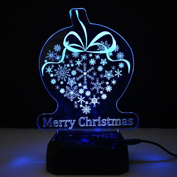 zestaindia 3W 3D Illusion Merry Christmas Colour Changing LED Lamp Gifts for 12 Year Old Boys