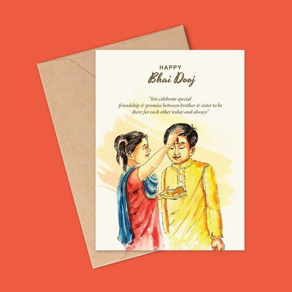 Brother and Sister Bond Greeting Card Gifts Under 10 rupees