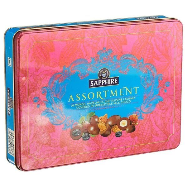 Sapphire Assorted Coated Nuts Gold Chocolate 350g Gifts For Indian Girlfriend