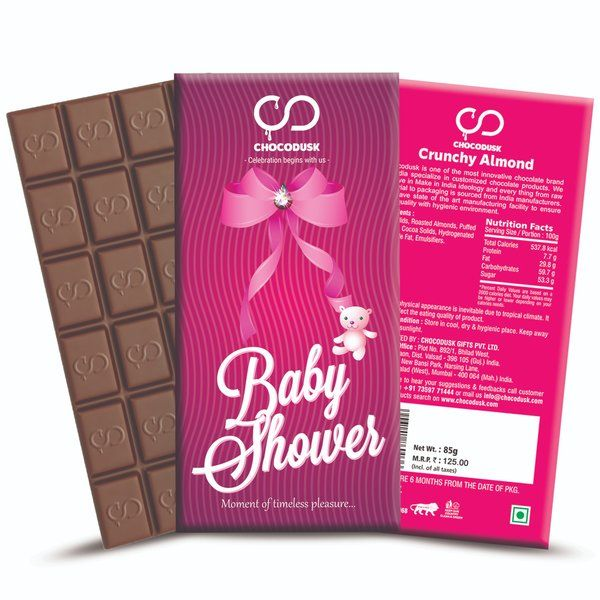 Chocodusk Baby Shower Pink Chocolate Bar Gifts For Newly Pregnant Friend