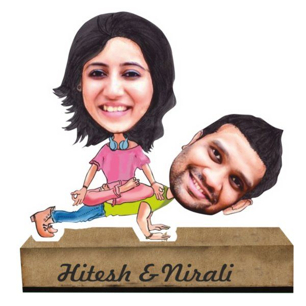 Zoci Voci Balanced Relationship Caricature Standee Naughty Gifts For Him