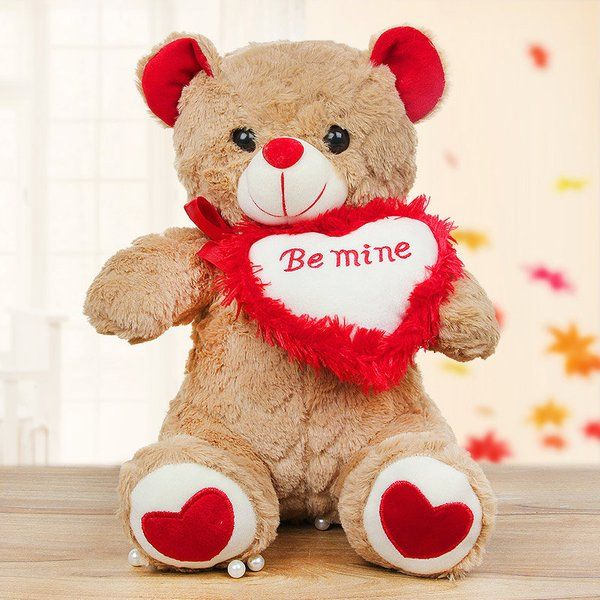 FlowerAura Be Mine Brownie Teddy Romantic Valentines Day Gift
