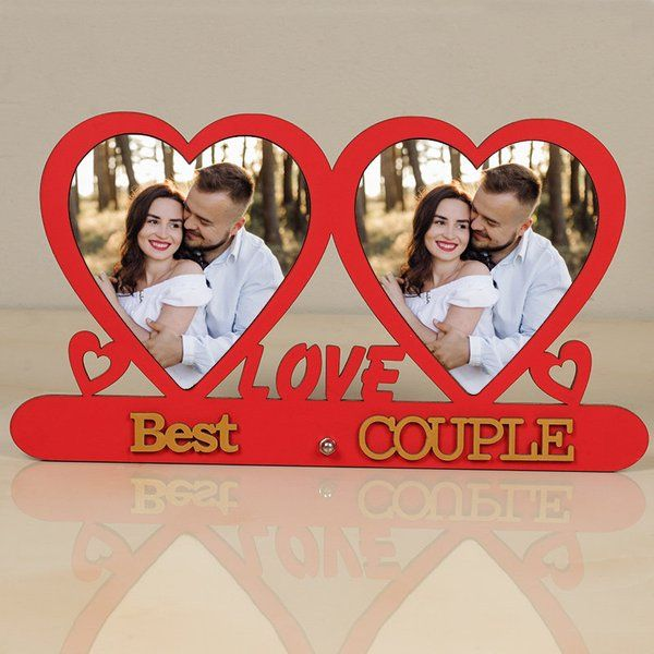 FlowerAura Best Couple Photo Frame Husband Wife Gift