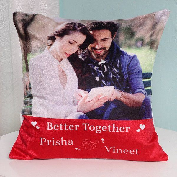 FlowerAura Better Together Personalised Cushion Gifts For Boyfriend Under 500