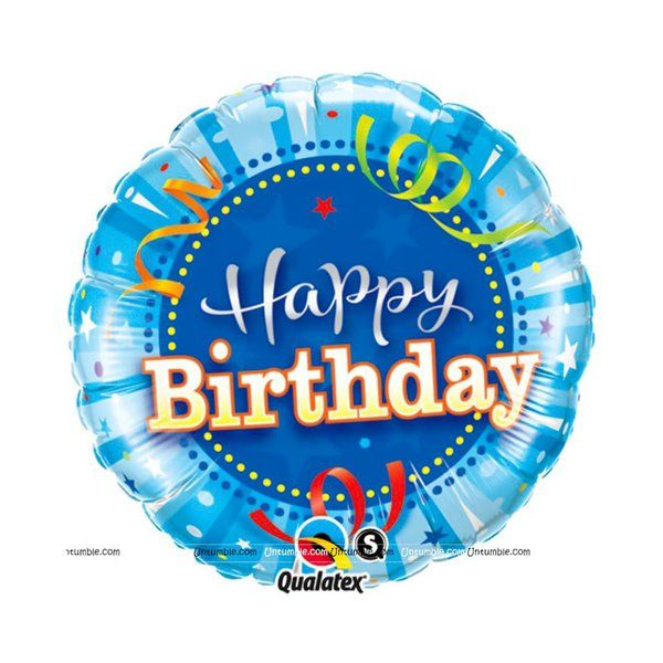 Untumble Blue Happy Birthday Foil Balloon Gifts Under 300