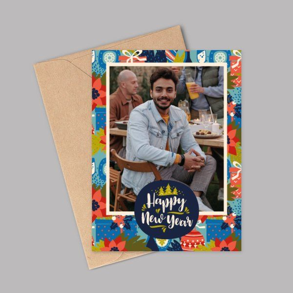 Simple 10 Rupees Products Personalized New Year Wishes Greeting Card for Boyfriend